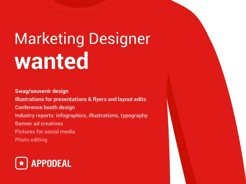 Approdeal ищет Marketing Designer (удаленка)